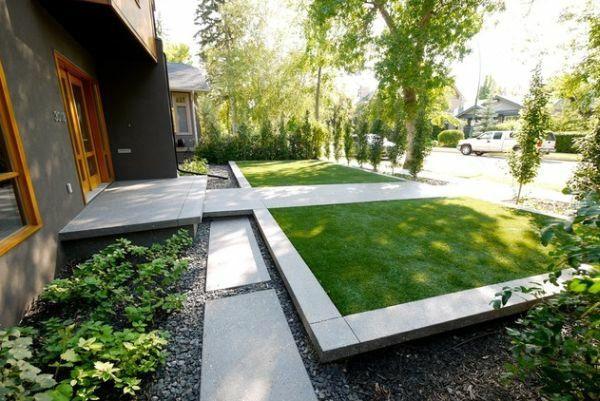 patio ideen vorgarten gestalten kleiner garten symmetrisch - kleiner garten gestalten