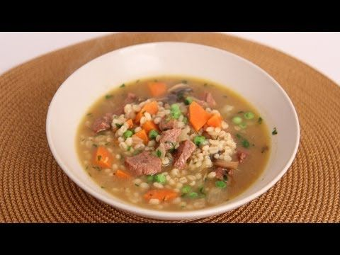 Beef and Barley Soup Recipe - Laura in the Kitchen - Internet Cooking Show Starring Laura Vitale