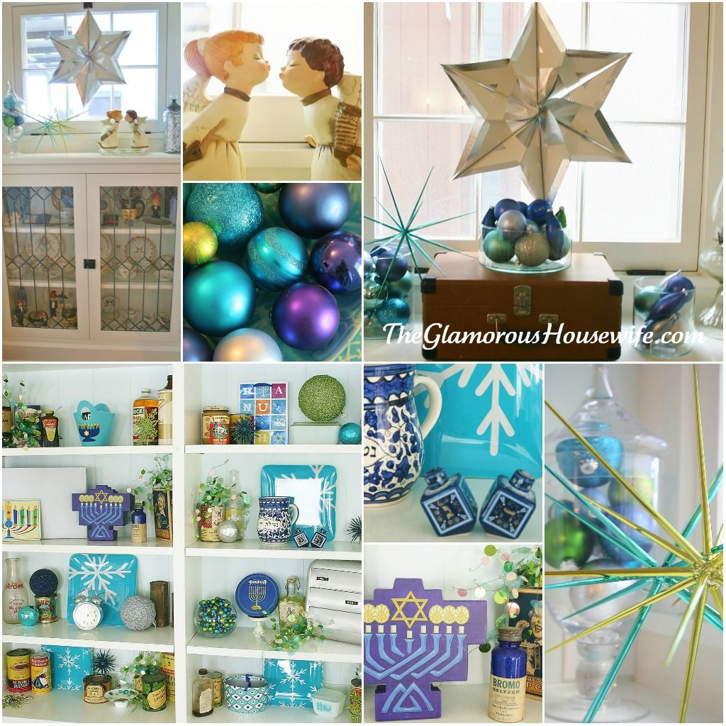 the glamorous housewife vintage inspired hanukkah decorations - Hanukkah Decorations