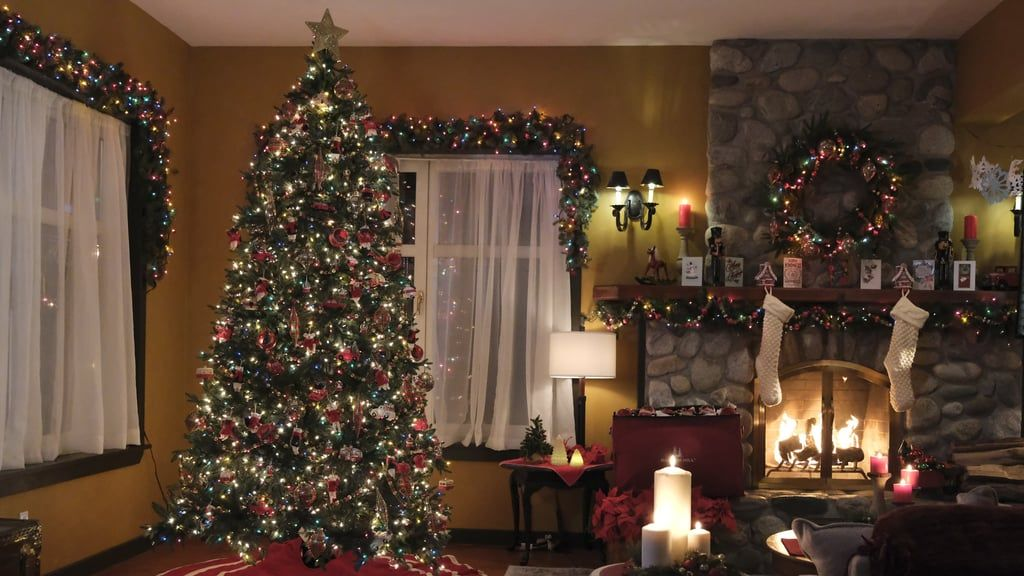 Christmas Living Room Zoom Background Christmas Living Rooms Holiday Decor Background