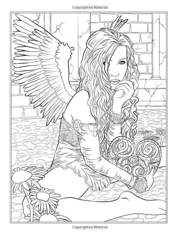 gothic dark fantasy coloring book fantasy art coloring by selina volume selina fenech - Gothic Coloring Book