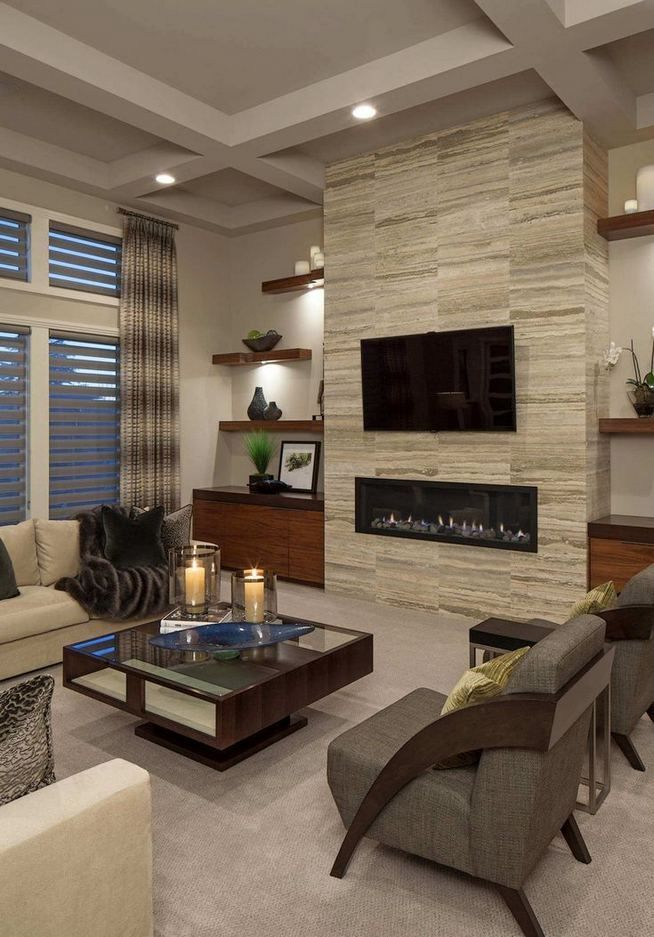 13+ Impressive Living Room Ideas With Fireplace And Tv images