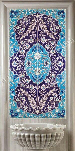 60x120 Kobalt Koçer Pano Dekorasyon Kütahya, Turk Hamami