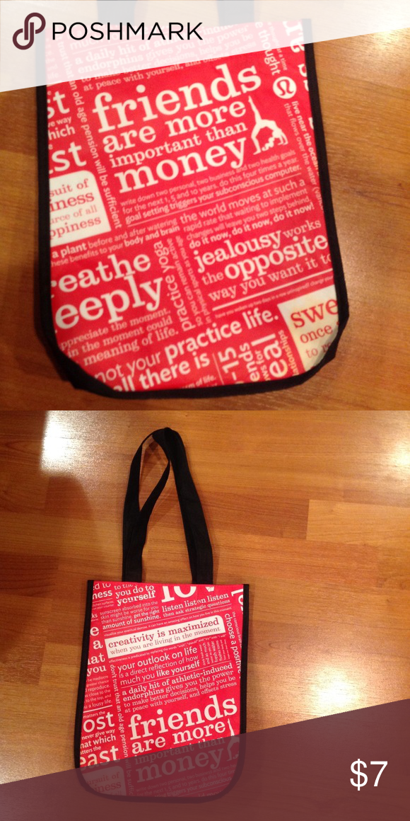 Lulu lemon bag Great bag for bringing your lunch in! lululemon athletica Bags Totes