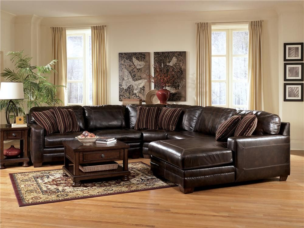 Leather Sectionals With Chaise Pierce Canyon L Shape Leather Sectional Sofa W Chaise By