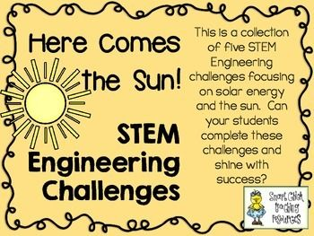 STEM Engineering Challenge Pack ~ Solar Energy Challenges