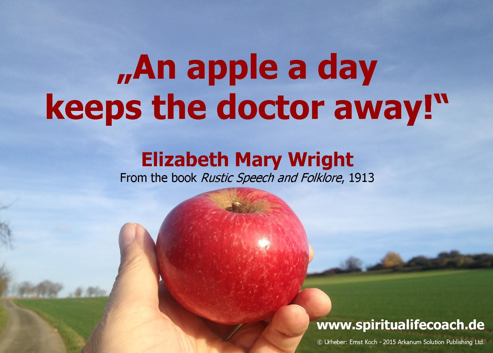 an apple a day keeps the doctor away speech