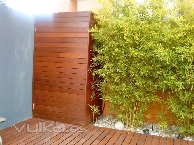 Armario de madera ipe a medida ipe armario madera exterior armario exterior - Armario de madera para exterior ...