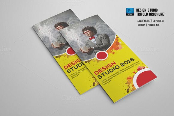 Design Studio Trifold Brochure-V552 @creativework247 Templates - studio brochure