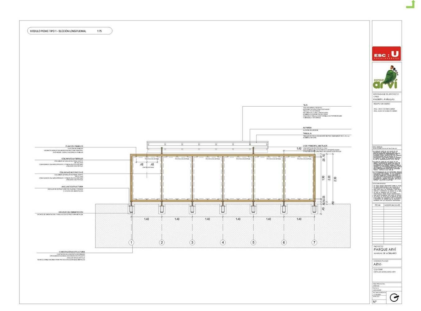Galería de Mobiliario Urbano para el Parque Arvi / Escala Urbana Arquitectura - 30