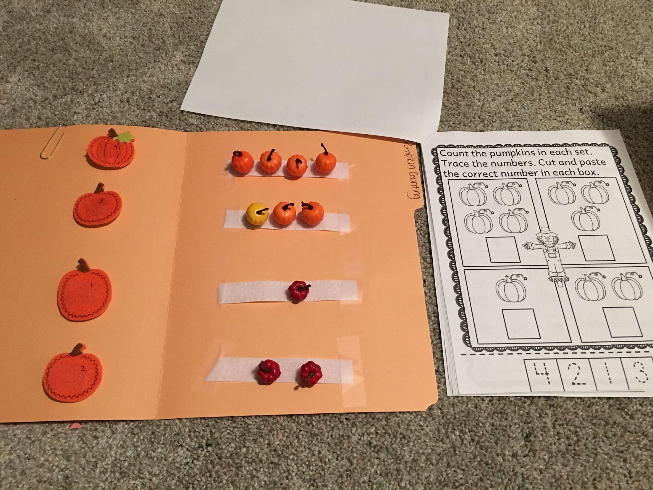 September Pumpkin Braille Counting To Mirror Worksheet