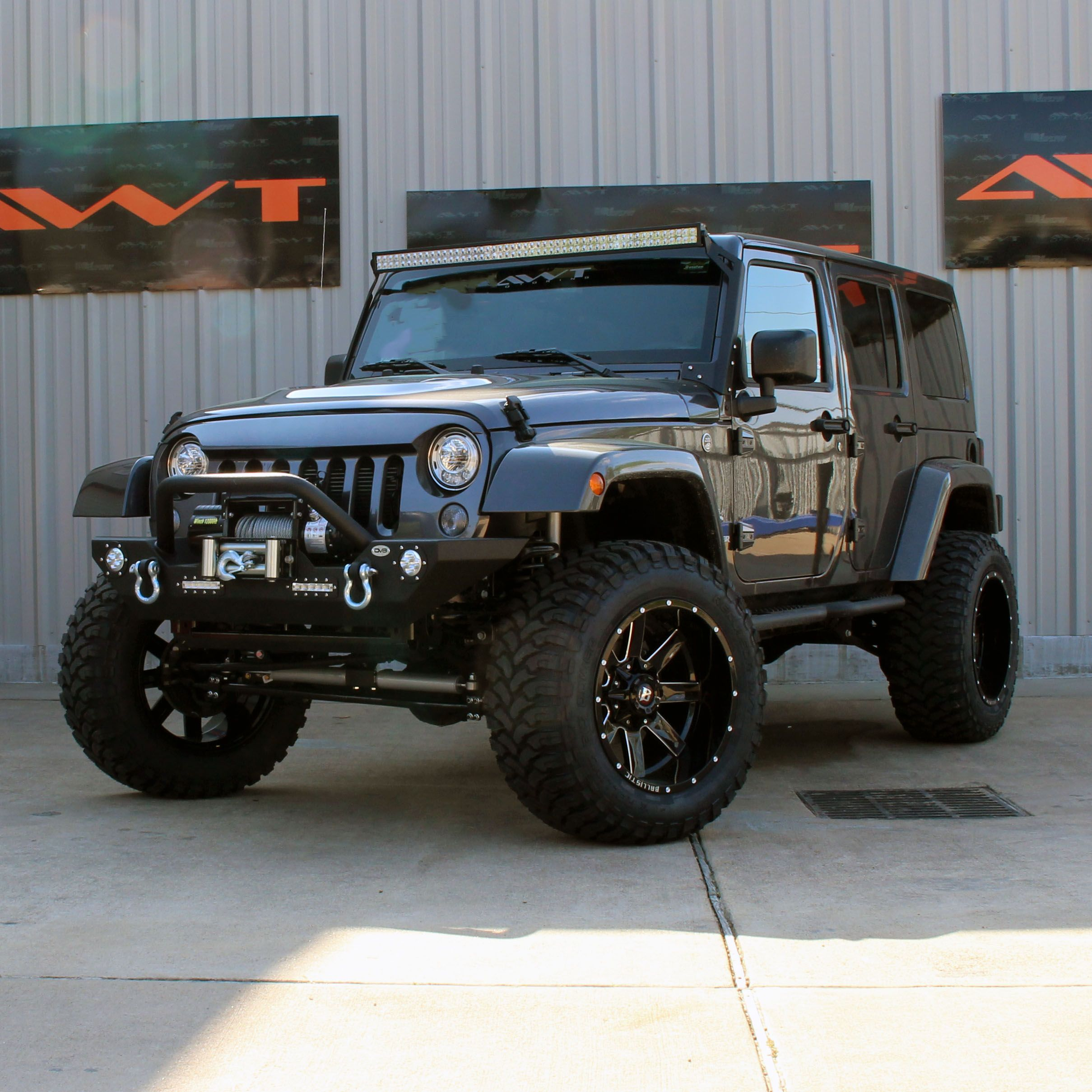 4 Rough Country Lifted Jeep Wrangler Rubicon With Ballistic