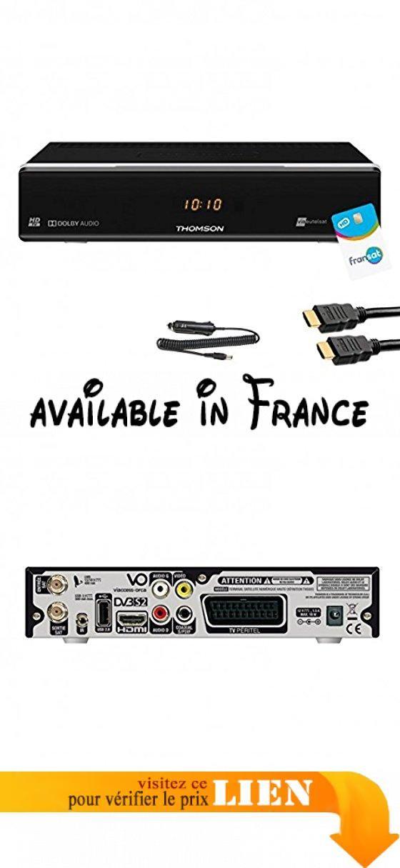 Pack récepteur Thomson THS805 HD + Carte Fransat + Câble 12V + Câble - cable electrique exterieur norme