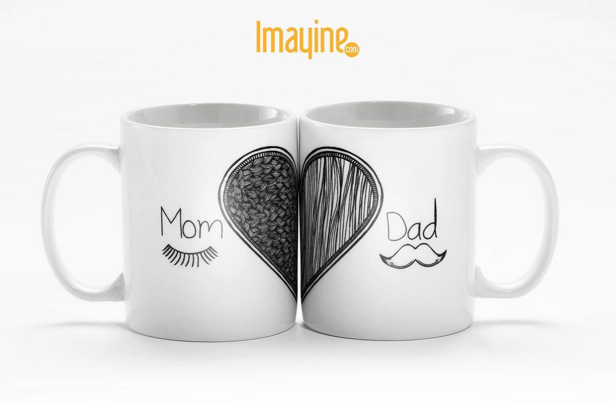 Tazas para los futuros mamás y papás tazas pinterest mugs