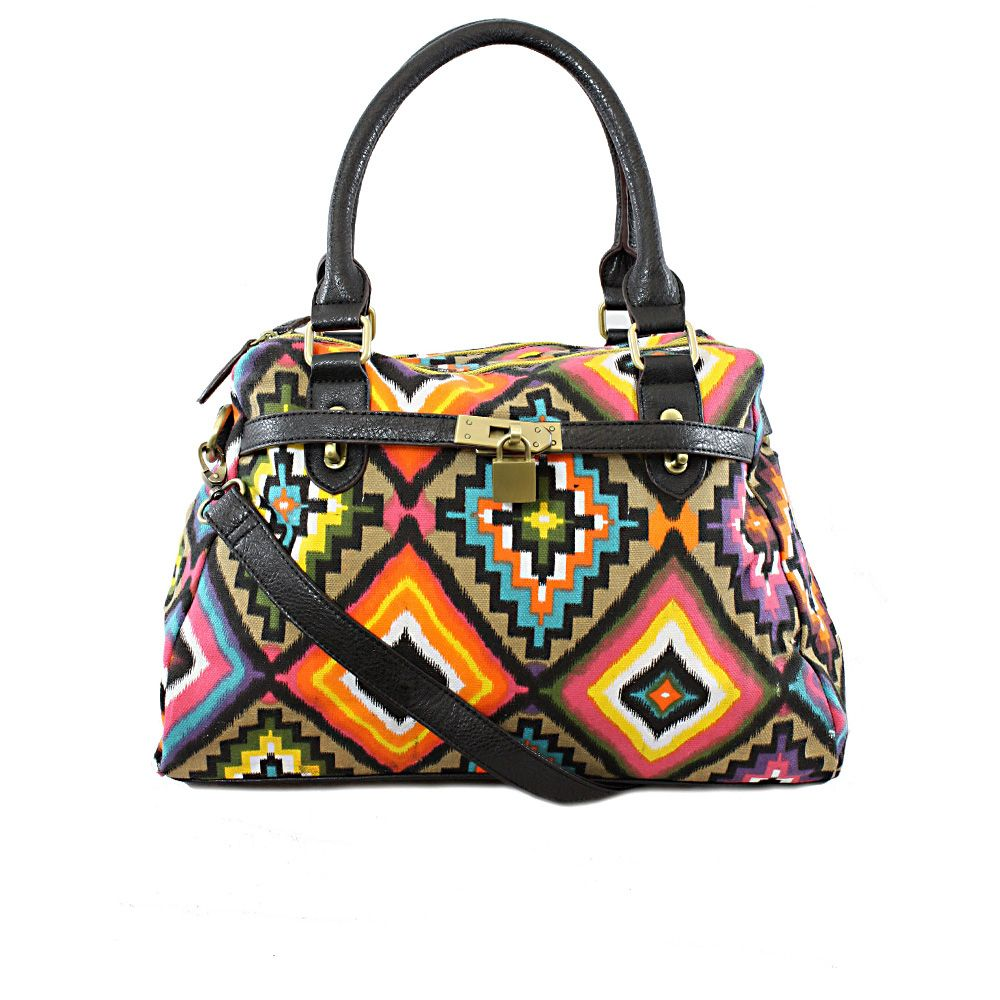 Mosaic Hobo Bag by Nila Anthony - Great colors and pattern! Throw on a good solid strap and this could be a great photo bag!