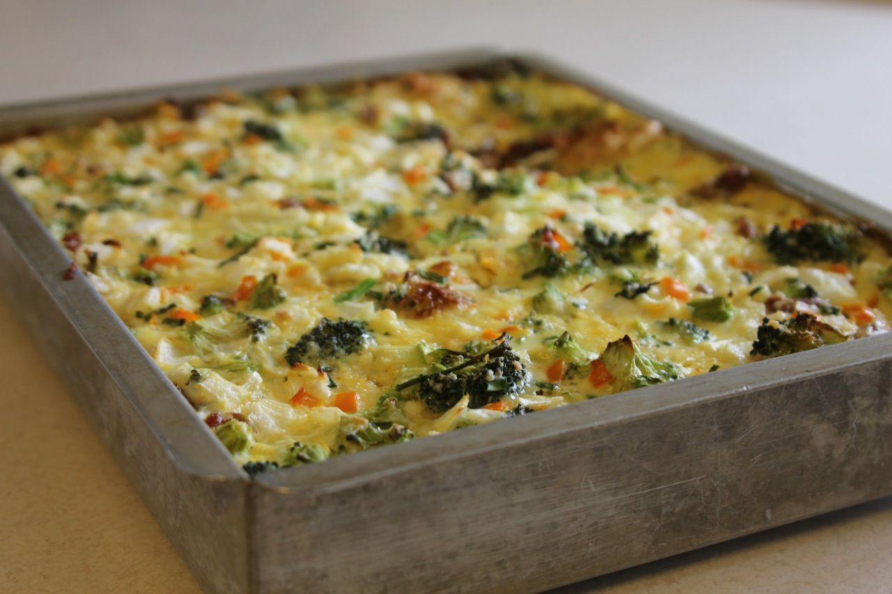 the best non dairy egg bake ever - Strata Egg Dish