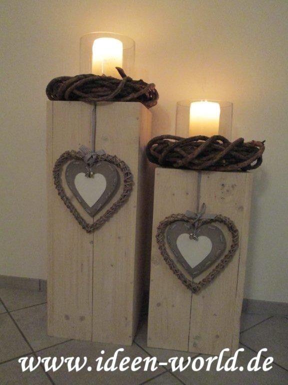 Holzpfosten Deko balken holz deko deko innen und außen holz deko und