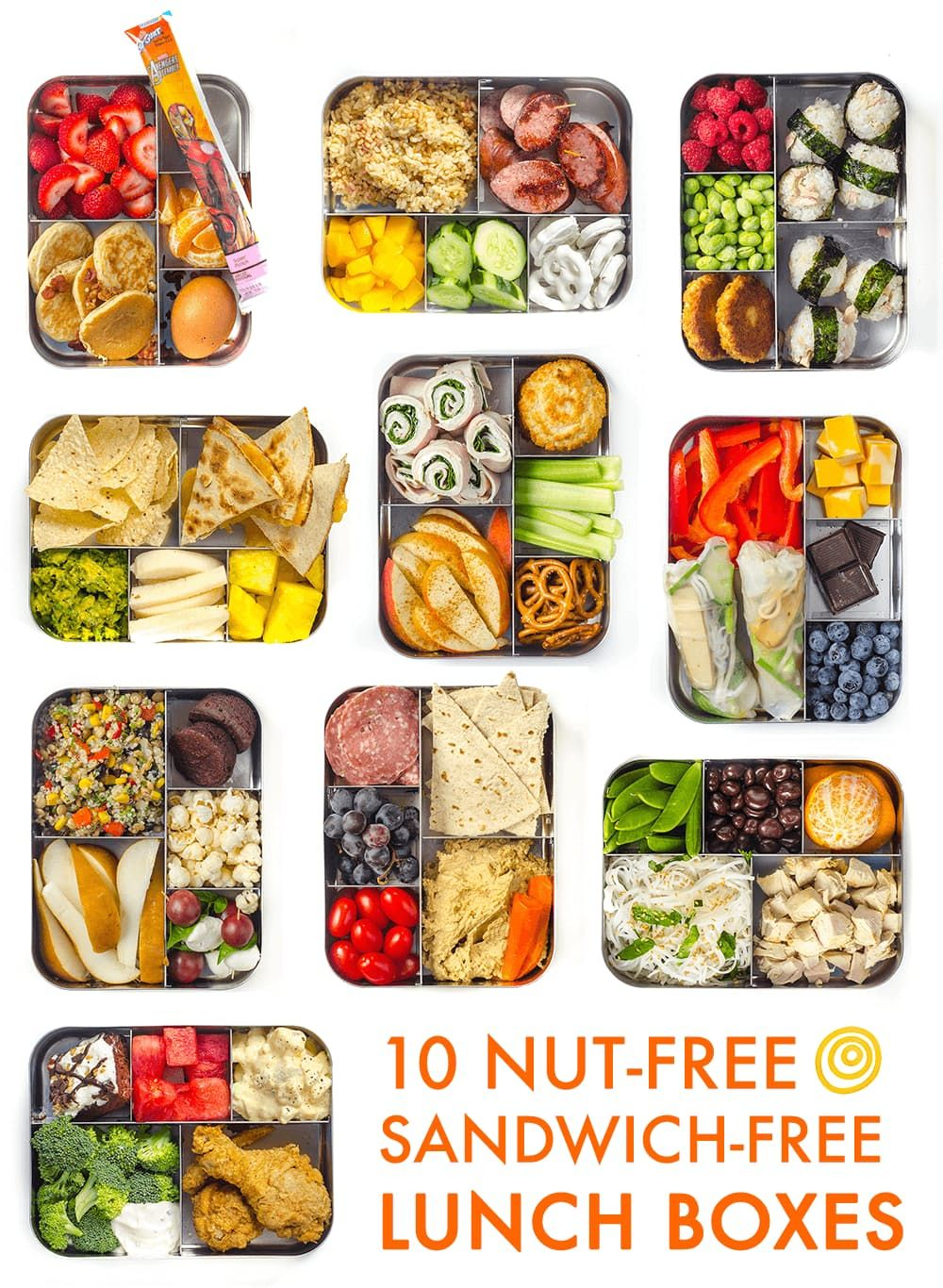 10 sandwich free lunch ideas for kids and grownups nut free lunch 10 nut free sandwich free lunch boxes with a recipe roulette video forumfinder Image collections
