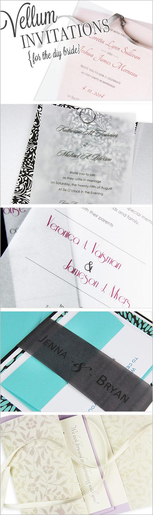 DIY vellum invitation ideas | Trending Translucent Vellum Paper ...