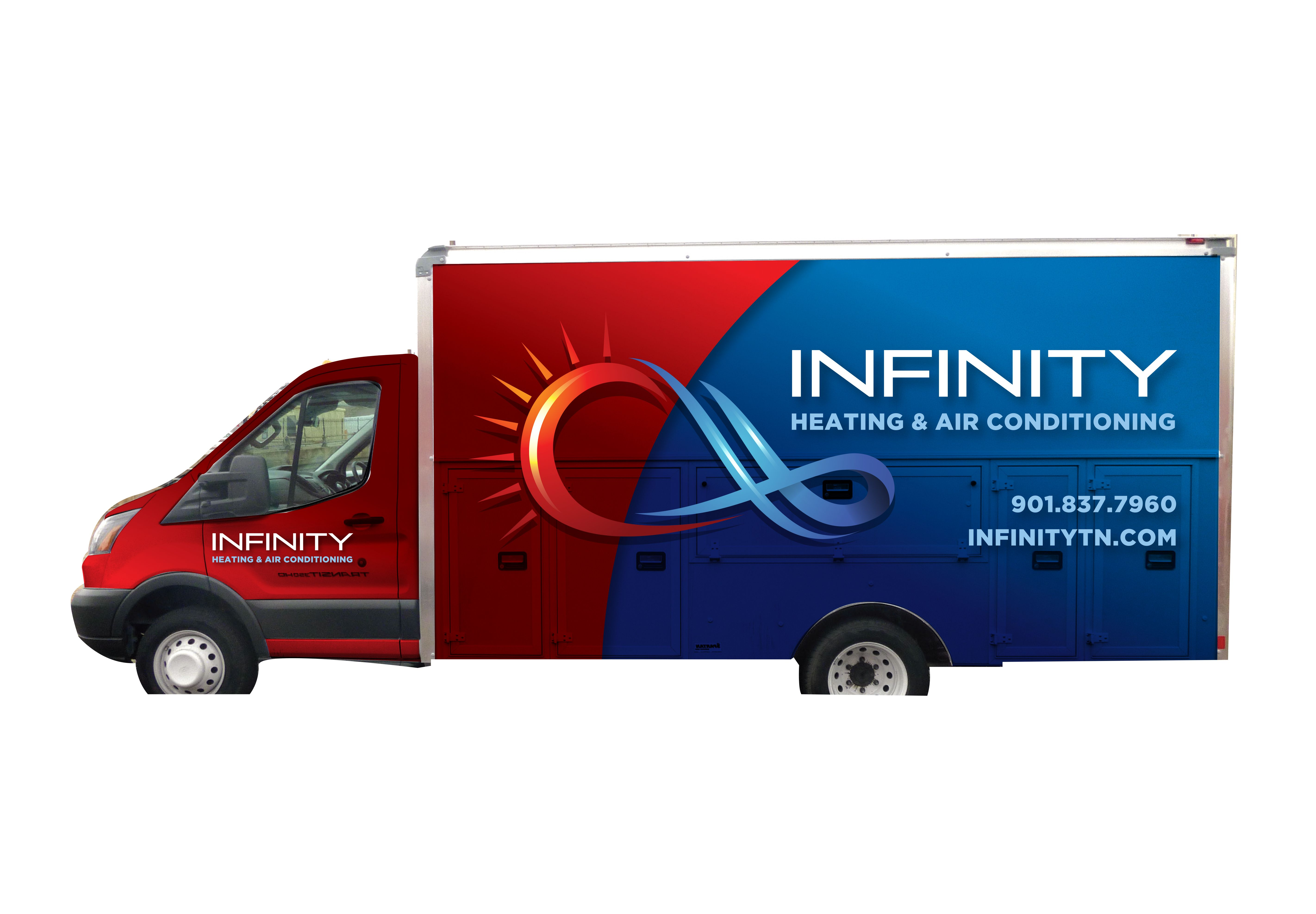Vehicle Truck Wrap Design For Heating And Air Conditioning Hvac