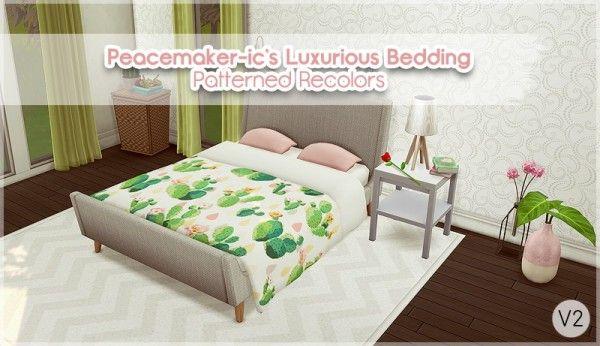 Allisas Luxurious Bedding Recolor Sims 4 Downloads