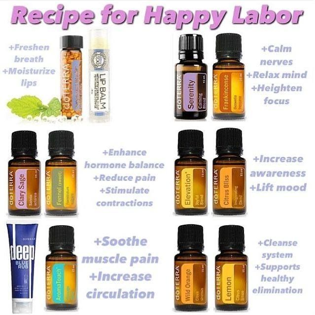 Quot Recipe For A Happy Labor Quot Doterra Essential Oils