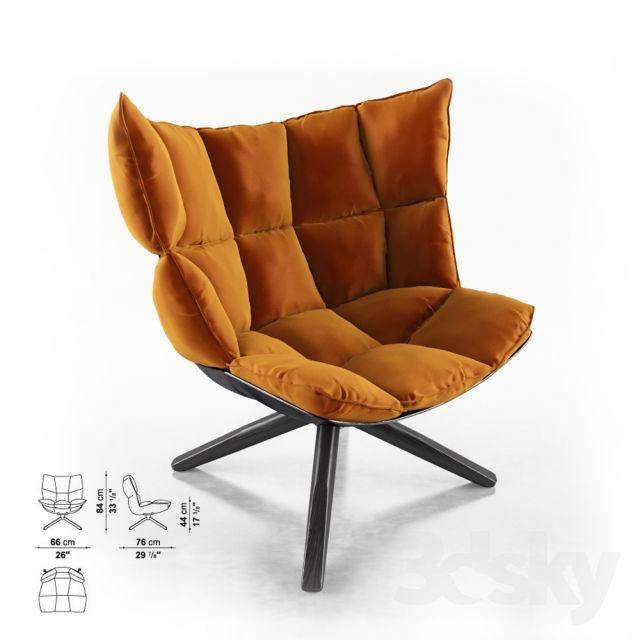 Fesselnd Husk Chair Factory B U0026 B Italy