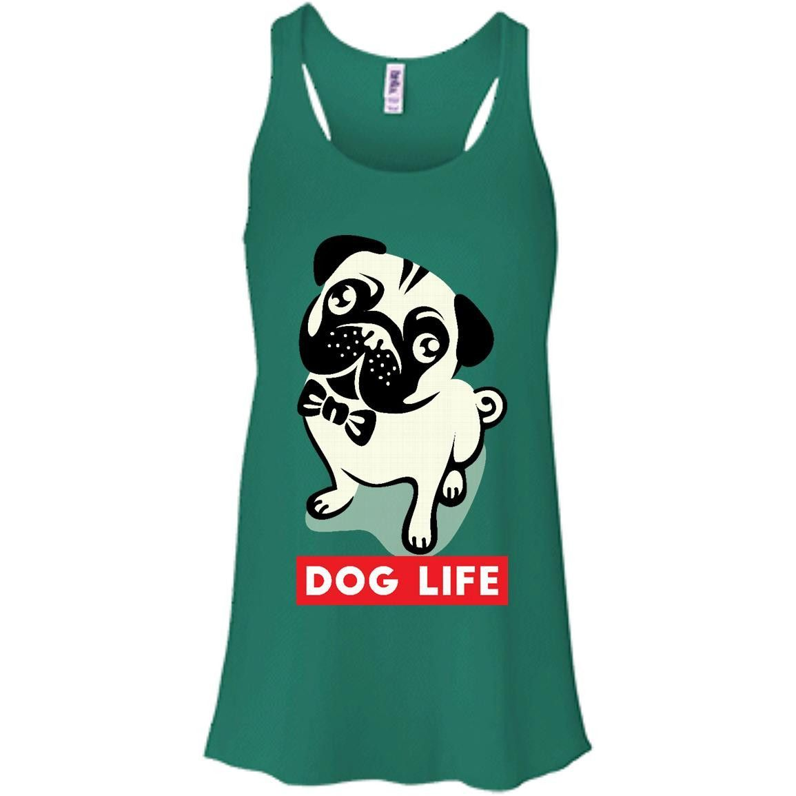 DOG LIFE fix-01 Bella + Canvas Flowy Racerback Tank