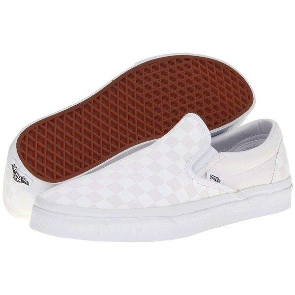 fa7e16747e Vans Classic Slip-On Core Classics ((Checkerboard) True White True ...