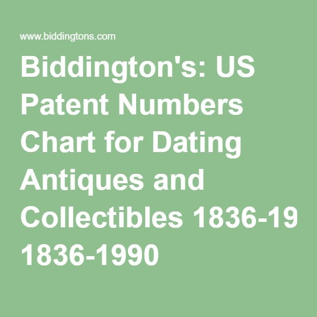 But remember, a patent number (from any country) can not pin point the exact date an.