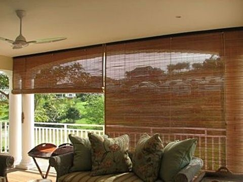 Bamboo Blinds Need These For My Back Porch Verticalblindspatterned Livingroomblinds