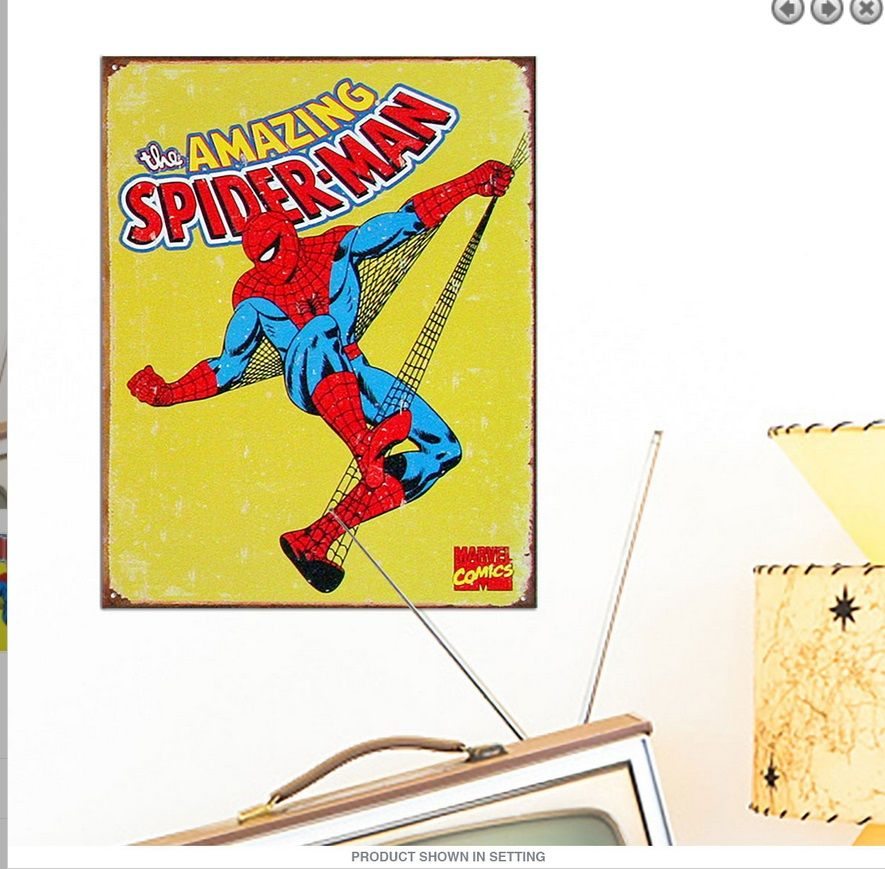 https://www.amazon.com/dp/B01LWCOSO6 The Amazing #SpiderMan Tin Sign ...