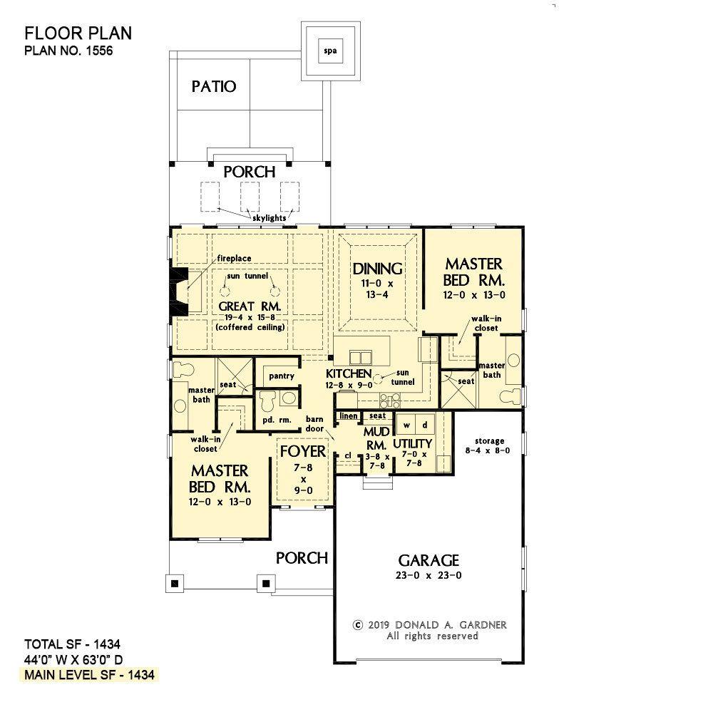 Narrow Lot House Designs Home Plans Donald Gardner How To Plan House Plans Simple House Plans