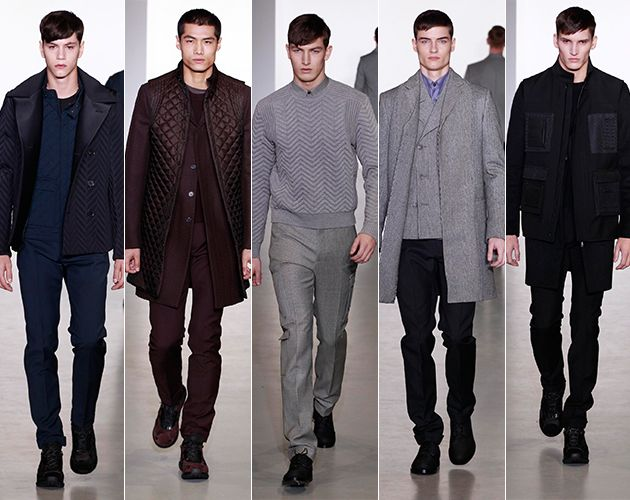 calvin klein collection runway milan fashion show mens style mens fashion technical herringbone pitti uomo
