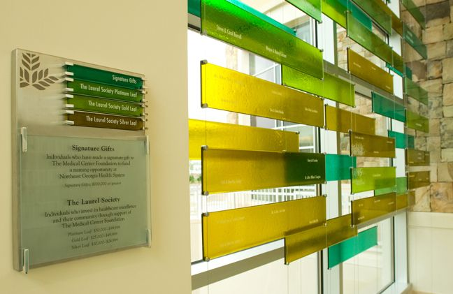 donor recognition design | Typically donor walls honor the major ...