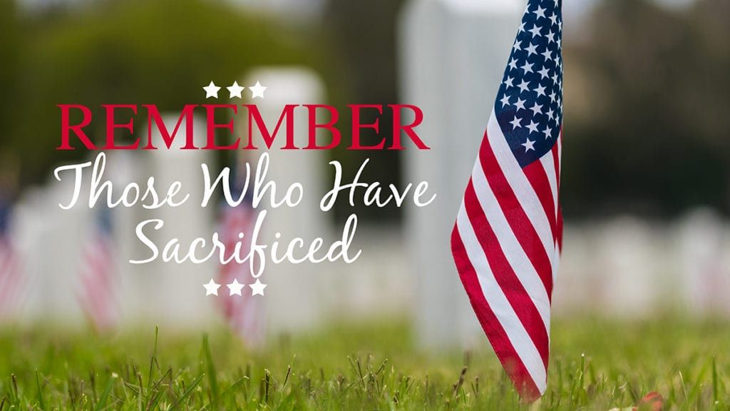 Today on MemorialDay we pause to honor and remember those