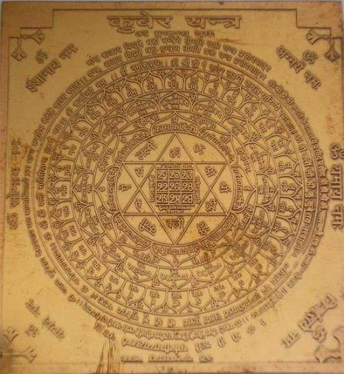 Portal de Mandalas - Mandalas Mágicas: yantra de Lord Kubera - para prosperidade