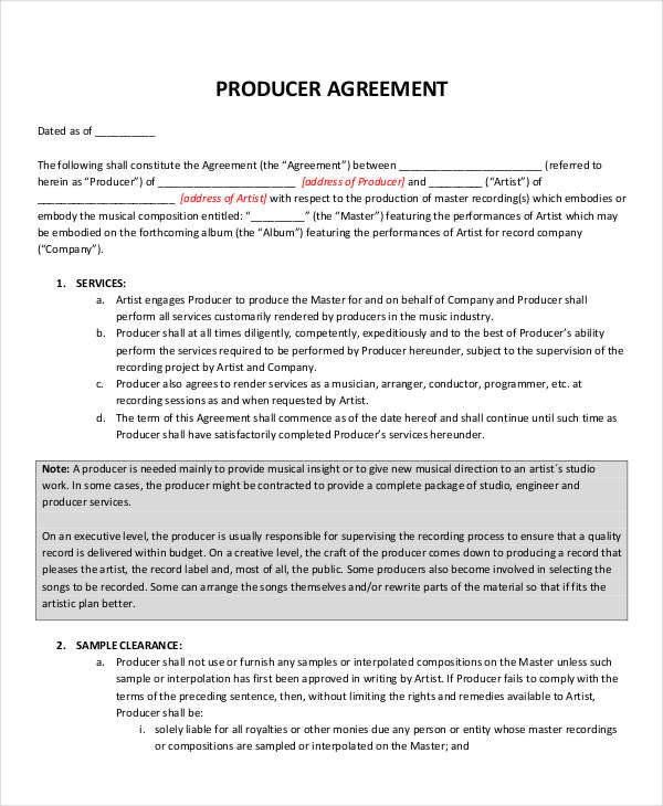 28 Music Publishing Contract Template In 2020