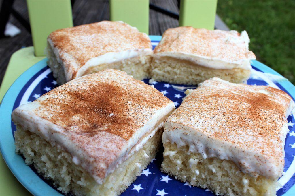 Apfelkuchen für Faule: Süßes vom Blech, mit Apfelmus #quickcookies