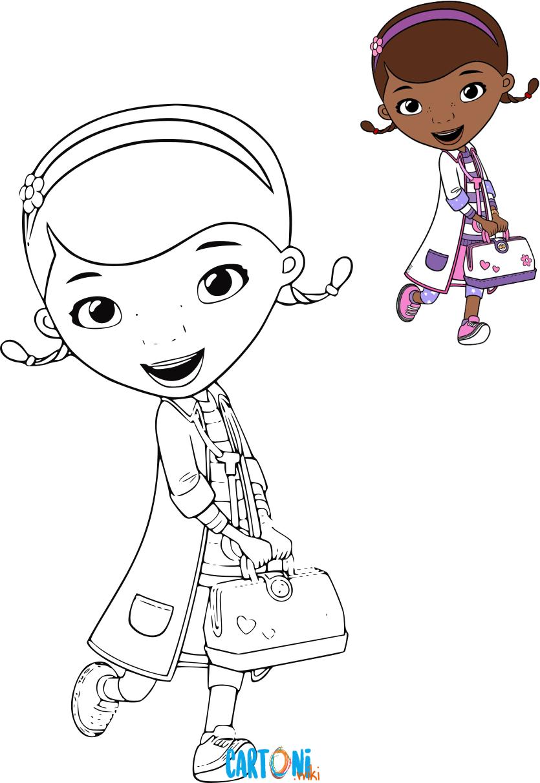 Cartoni Animati Disegni Da Colorare Della Dottoressa Peluche E Di