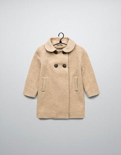 My baby will need this. coat with back pleats - Coats ...