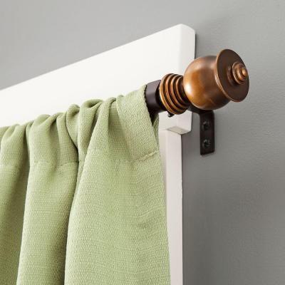 Kenney Parker 48 86 In Adjustable 5 8 In Standard Decorative Window Single Curtain Rod In Oil Rubbed B Curtain Rods Window Curtain Rods Single Curtain Rods