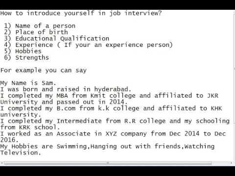 Pin by Mariah Decourley on How To Find A Job How to introduce