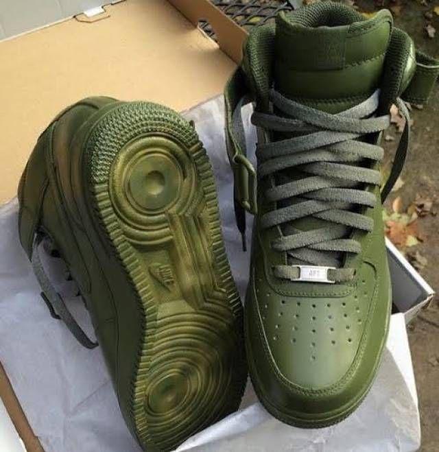 Custom Olive Nike Air Force 1 High or Mid | Kixify Marketplace