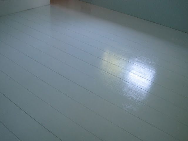 Painted Plywood Plank Floors