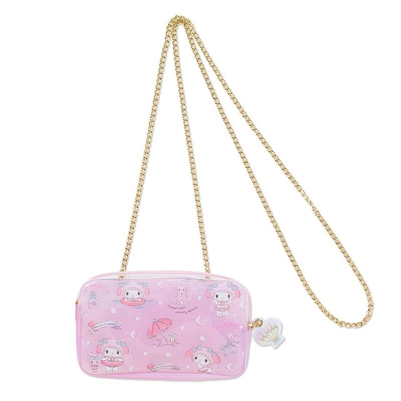Sanrio Original My Melody Mini PVC Beach Bag Crossbody Chain Strap Bag Girls #SanrioJapan