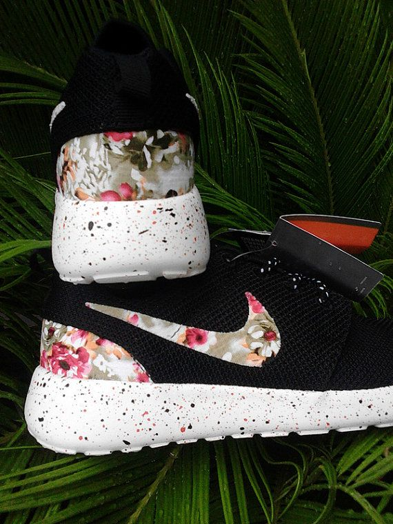 best sneakers 4c564 837dd Nike Roshe Run Custom Flower Print Runing Shoes by SmartShoesShop