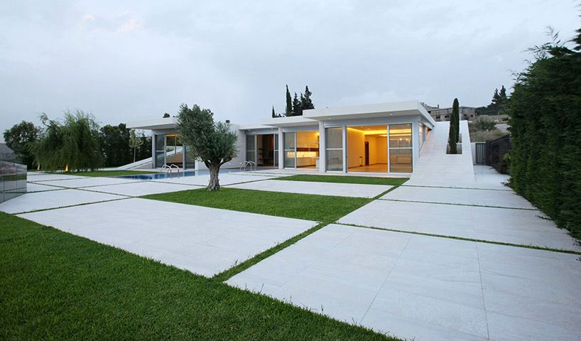 jiyeh villa the private residence is embedded within the sloping