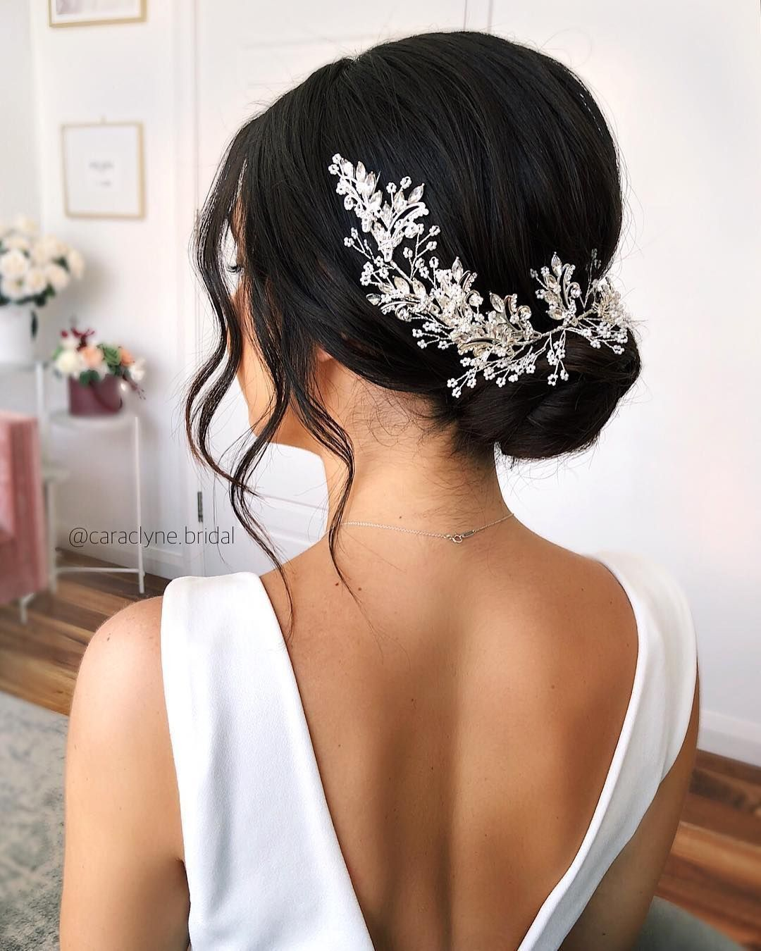 30 Wedding Hairstyles With Flowers You May Love - Page 23 of 30 - You and Big Day