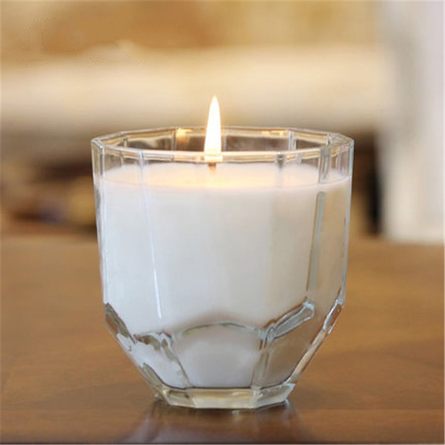 Glass candle wedding decoration cup aromatherapy gift candela